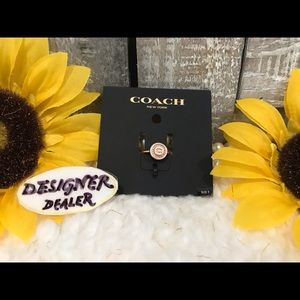 COACH Pave Pendant Ring Size 7 NWT RT $65.00 Rose